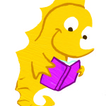 seahorse reading